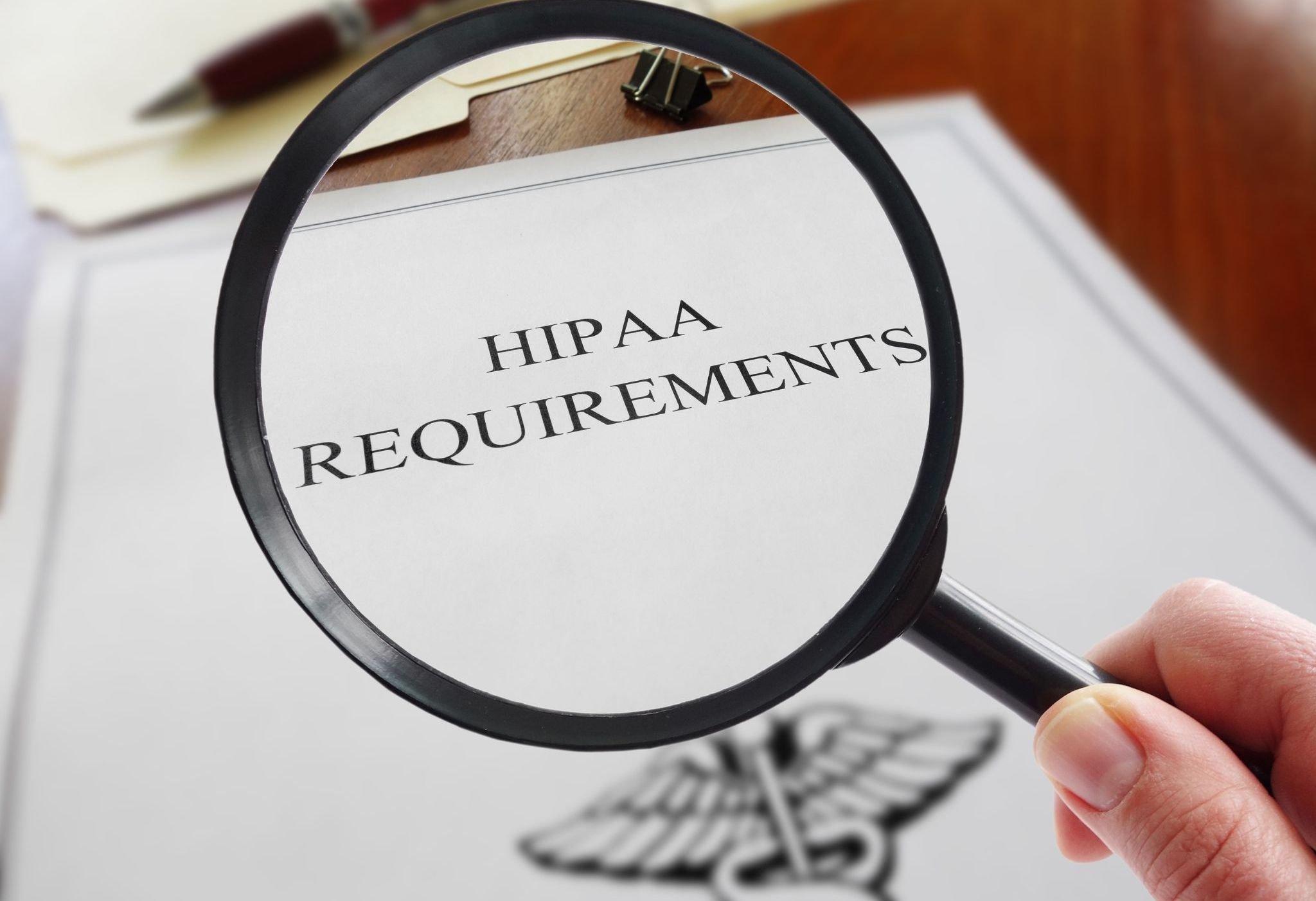 HIPAA requirements