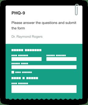 PHQ-9 form